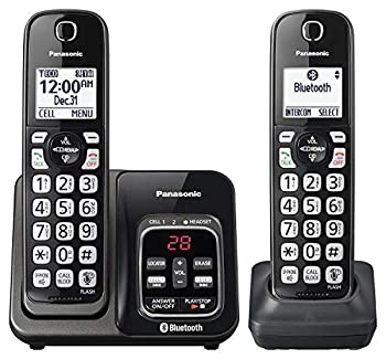 Panasonic KX-TGD562M Link2Cell Bluetooth Cordless Phone with Voice Assist and Answering Machine - 2 Handsets  Renewed