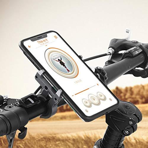 Alta robustez Motocicleta Bicicleta Navegar Accesorios de Soporte Mano de Obra Exquisita PRO1 Aleación de Aluminio Soportes para teléfonos Inteligentes Desgaste: para Entretenimiento en el(Titanium)