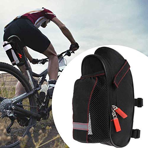 beiyoule Bicycle Saddle Bag, Waterproof Oxford Cloth Bike Water Resistant Under Seat Storage Pack Large Capacity Mountain Road Bike Tail Bag Bicycle Accessories