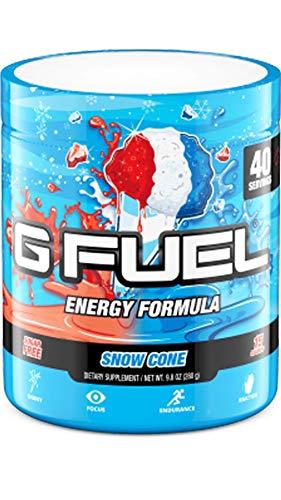 G Fuel Snow Cone Elite Energy Powder, 9.8 oz (40 Servings)