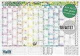 Wandkalender Schuljahr 2021/2022 groß, 89 x 63cm (A1) gefalzt | Schuljahreskalender, Schuljahresplaner für die Wand inkl. Ferientermine, 2 Stundenpläne | nachhaltig & klimaneutral