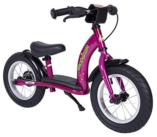 BIKESTAR Kinder Laufrad Lauflernrad Kinderrad für Mädchen ab 3-4 Jahre | 12 Zoll Classic Kinderlaufrad | Berry Violett