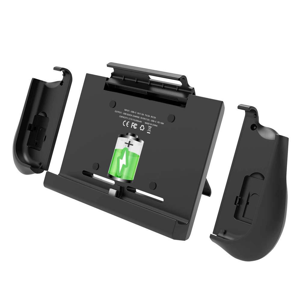 BigBlue 10000mAh Cargador de Baterías para Switch, Batería Portátil con Empuñaduras para Joy-Con, Cargador Recargable con Soporte Ajustable & Ranura para Tarjetas, Funda Batería para Switch: Amazon.es: Electrónica