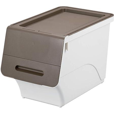 サンカ 収納ボックス フロックカラースリム30 ブラウンホワイト (幅28.5×奥行46×高さ31cm) squ+ fr-S30BR/WH 日本製