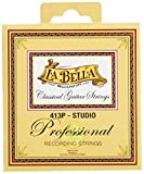 La Bella 413P Studio/Clear Nylon+Polished Golden Alloy