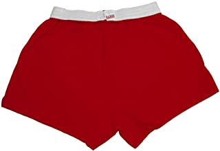 red school sports shorts