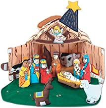 Pockets of Learning Nativity Manger Set for Children, Holiday Creche Scene, Christmas Soft Fabric Play Set for Toddlers, Cloth Activity Pretend Play Toy