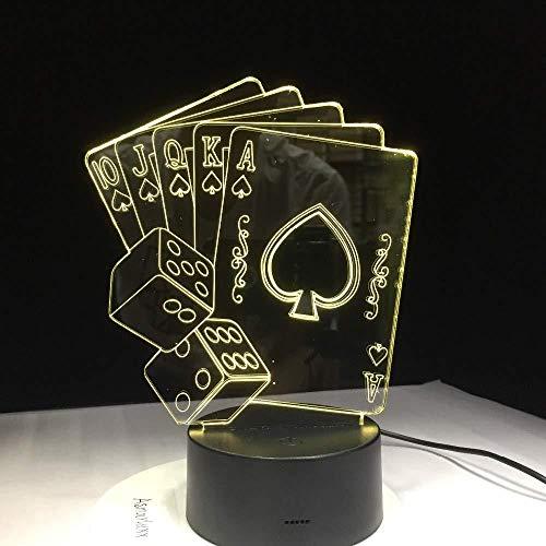 RGB Symphony 3D Rendering Lampada App mobile 7 e 16M Colori Cambia Casino Poker Dadi Negozio per famiglie Atmosfera romantica per bambini amici regali per le vacanze