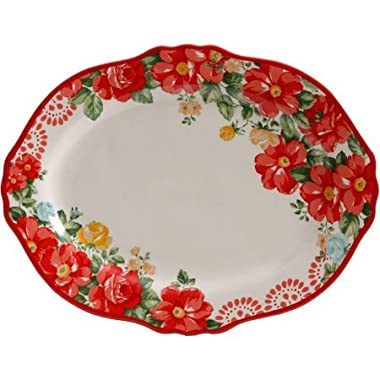 The Pioneer Woman Vintage Floral 14.5  Serving Platter (1 platter)