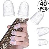 Silikon Gitarren Fingerschutz, Gitarre Fingerspitzen Schutz, Gitarre-Fingerschutz Kappen für Saiten...