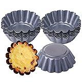 12/24 Pz Stampo per Crostate Uova Mini Teglie per Muffin Cake Cup Quiche Stampo Budino Pia...
