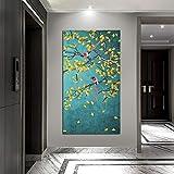 KWzEQ Carteles holandeses de Hojas Chinas y Grabados en la decoración de la Pared de Tela de la Sala de Estar,Pintura sin Marco,30x60cm