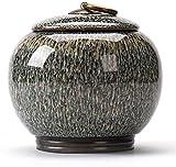 Tarros de Almacenamiento con tapas Té de cerámica Tarro de la vendimia del estilo chino de almacenamiento tarros de té tradicional frasco sellado del carrito de té Tapas casa cocina decoración dining