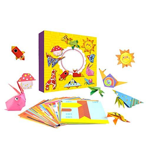 Sharplace Montessori Juegos Origami 108 Piezas de Madera Carton 3D Clasificación de Juguetes para Niños Educación Temprana