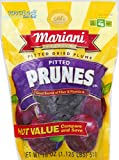Mariani Pitted Dried Plums Pitted Prunes 18 oz Value Size Package