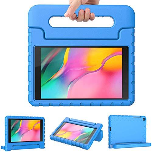 iMoshion Compatible con Samsung Galaxy Tab A 8.0 (2019) – Funda para tablet infantil – Funda para tablet Kids Case en color azul con asa y soporte [resistente, antideslizante y antigolpes]