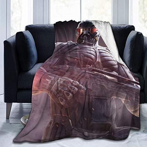 Lsjuee Crysis Decke Flanell Mikrofaser Überwurfdecken Super Soft Fuzzy Luxury Geeignet für Bed Sofa Travel Four Seasons Decke 50 x 40 Zoll
