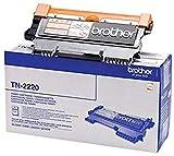 Brother TN-2220 Toner Cartridge, Black, Single Pack, High Yield, Includes 1 x Toner Cartridge, Brother Genuine Supplies