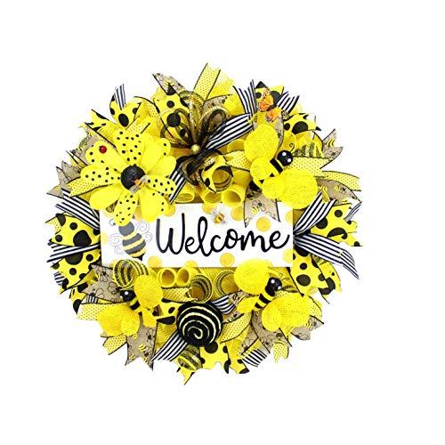 Türkranz Bienen und Sonnenblume gelb...