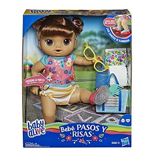 Baby Alive Muñeca Camina y RIE Castaña Baby Doll