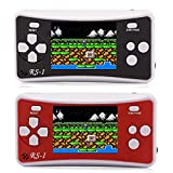 Infityle Handheld Game Console for Kids Seniors Adults with Built in 152 Portable Classic Retro Video Games(Black and Red)
