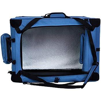 Amazon Basics Panier de transport souple et pliant pour animal de compagnie - 66cm, Bleu