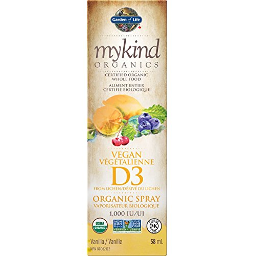 Garden of Life mykind Organics Vegan D3 Organic Spray 58 ml 1000IU- Vanilla