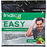 Indica Easy Shampoo Hair Color (Black, 18 ml)-Pack of 10
