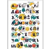 Russisches Alphabet Poster Kinderposter Kinderzimmer