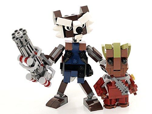 Clip: Lego Rocket Raccoon and Baby Groot Custom Figure