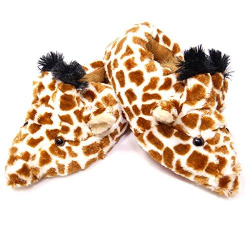 éS Plüsch Hausschuhe Giraffe - Größe S bis XXL (M)