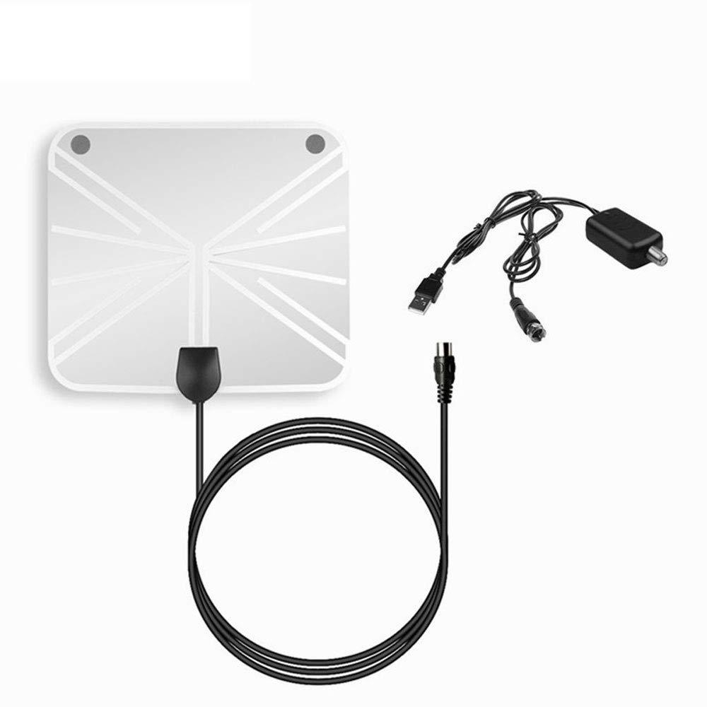 BangHaa Bajo Techo TV Antena HDTV amplificada 50-100 Millas de Alcance Digital 1080P HD señal de la Antena Amplificador Booster Antena de TV Digital: Amazon.es: Electrónica