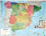 Grupo Erik Editores MPGE0219 - Mini póster mapa de España, 40 x 50 cm