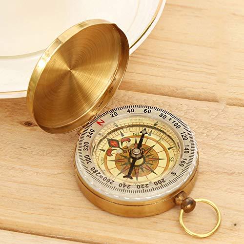 TOMMY LAMBERT Kompass, leuchtende Messing-Navigationsuhr, Kompass, Schlüsselanhänger, Outdoor-Aktivitäten, Klettern, Camping, Wandern, Taschen-Navigations-Werkzeug