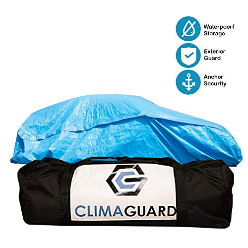 OOKU CLIMAGUARD Temporary Protective Enclosure | Flood Shields for Vehicles | Waterproof Car Covers no Debris or Water can get Past | Floats in Flood | minivans and mid-Size SUVs up to 16.6ft