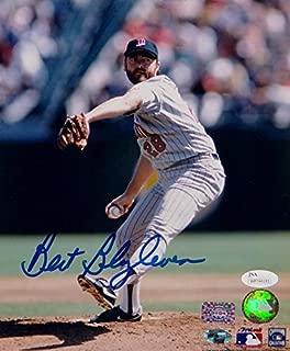 Bert Blyleven Autographed Minnesota Twins 8x10 Pitching Photo- JSA W Auth Blue