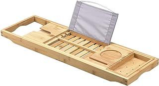 竹製 バスタブトレー バスタブトレー バステーブル 伸縮式 長さ70~105cm調整可能 お風呂用 癒し