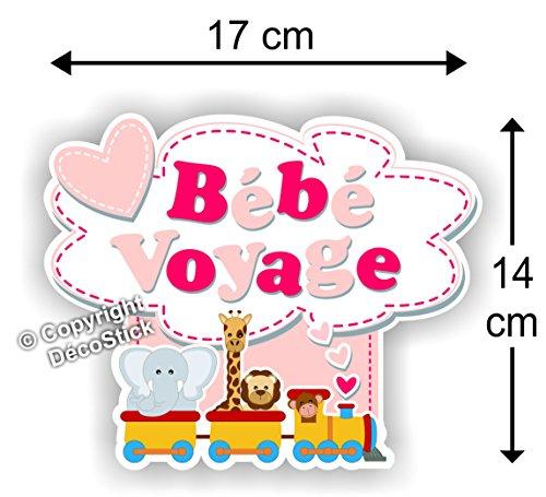 Sticker Bébé Voyage Rose - Autocollant bébé à Bord Fille