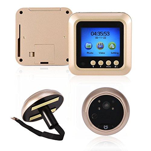 Cuifati Timbre Digital y Visor de Puerta, cámara de Timbre con Pantalla LCD TFT de 2,4 Pulgadas con Gran Angular de 160 °, Compatible con cámara de Mirilla de Timbre Digital FIFO, 200 Mega
