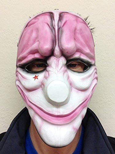 Rubber Johnnies TM Payday 2 Heist Dallas Wolf-Hoxton-chaînes en Jeu Masque Halloween Masque de Clown
