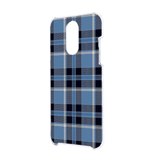 [FFANY] LG Q Stylus 801LG (LMQ710XM) スマホケース ハードケース [ガーリー・ブルー] チェック柄 格子柄 シンプル エルジー キュー スタイルズ スマホカバー 携帯ケース check h190402