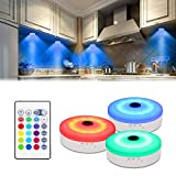 Bason Puck Lights with Remote,Under Cabinet led Lighting,RGB...