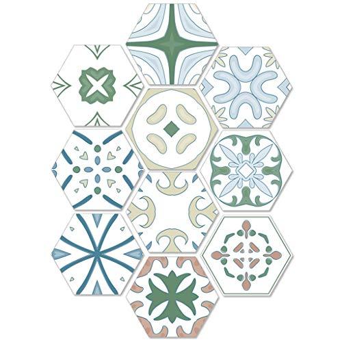 Hexágono pegatinas Pelar y pegar la pared Vinilo adhesivo para salpicaduras Impermeable Extraíble Baldosa hexagonal Calcomanías de pegatinas para baño y cocina, 7.87x9.05 pulgadas (Color : 80pcs)