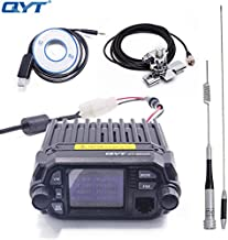 QYT KT-8900D Dual Band Quad Band 25W VHF UHF Display Large LCD Display Mobile Radio+Programming Cable with CD+Antenna + Car Clip RB-400 + 5m Cable