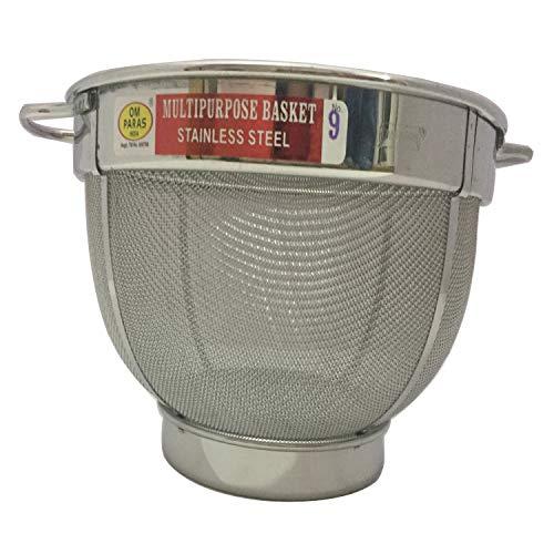 Stainless Steel Kitchen Rice Strainer Washing Bowl Dishwasher Safe Mesh Colander Strainer Basket Strainer For Pasta, Noodles, Orzo, Vegetables & Fruits