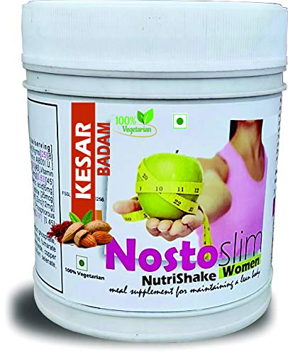 Develo Slimming Protein Shake Fat Burner Weight Loss Supplement For Women & Girls NostoSlim Powder [Kesar Badam]540Gm