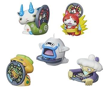 Set of 5  Yo-Kai Watch Medal Moments Wave 1 - Jibanyan Whisper Komasan Noko & Tattletell