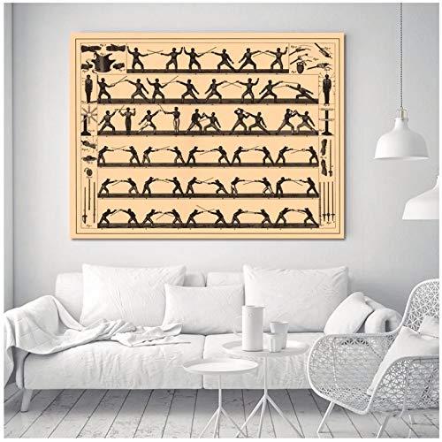 NFGGRF Brockhaus und Efron Enzyklopädisches Wörterbuch Poster und Drucke Wandkunst Leinwand Bilder Poster Living Home Decor -60x90cm Kein Rahmen