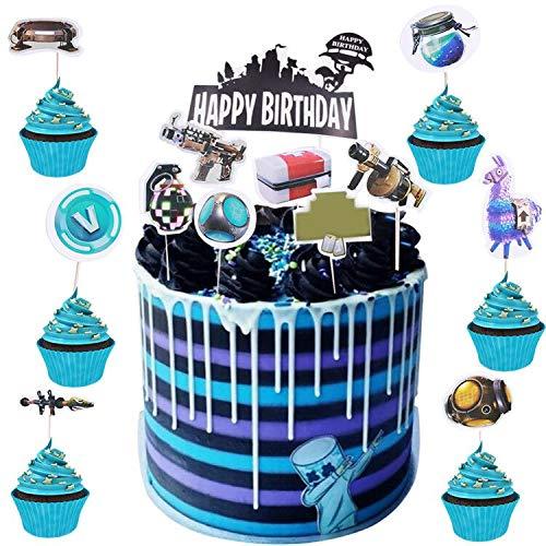Geburtstag Tortendeko BESLIME 25pcs Cake Topper, Cake Topper Personalisiert, für Kinder Mädchen Junge Party Geburtstag Party Kuchen Dekoration