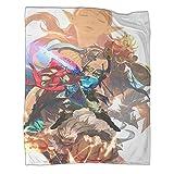 Xaviera Doherty Hyrule Warrior Zelda Age of Disaster Hot Blood Game Manta de franela gruesa de 150 x 200 cm, suave y cómoda.
